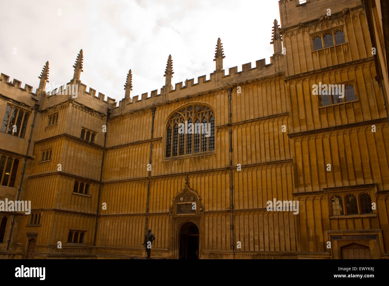 Angled view of Bodleian Library exterior, Oxford United Kingdom - Stock Image