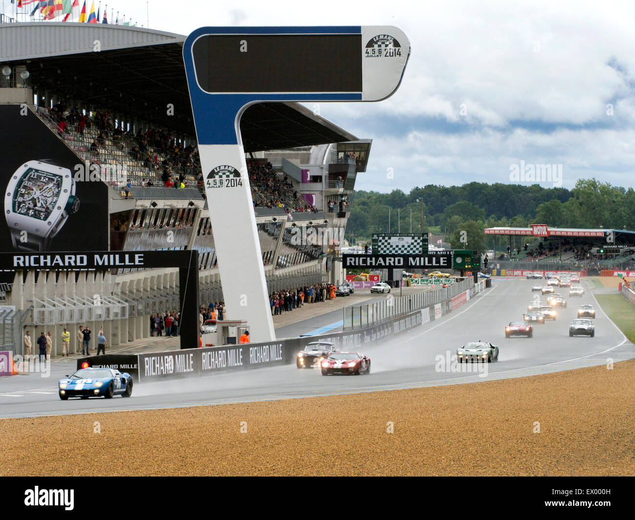 Race start at Classic Le Mans 2014 Stock Photo