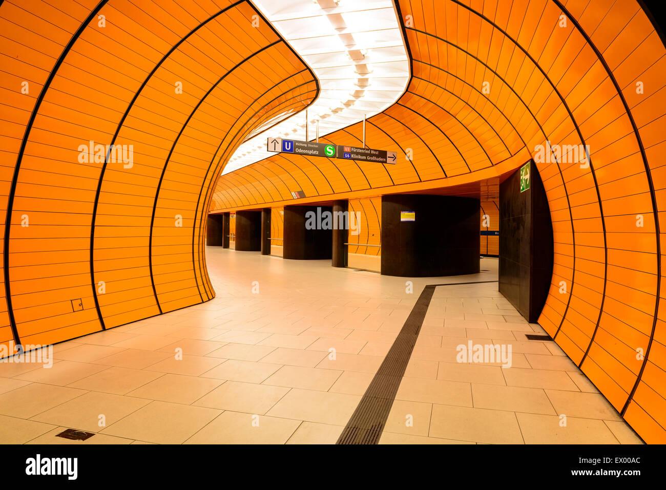 Metro Station Marienplatz, Munich, Bavaria, Germany - Stock Image