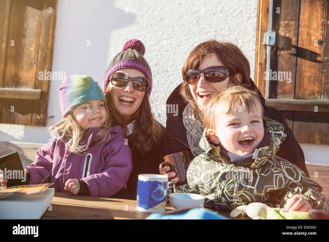 Family on vacation, Achenkirch, Tirol, Austria - Stock Image