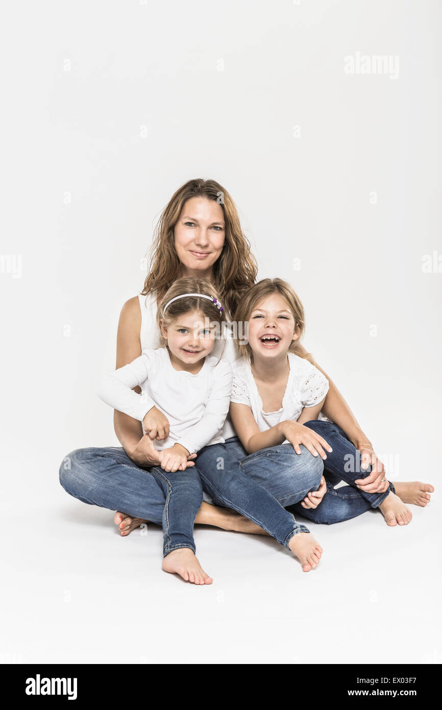 Mother and daughters - Stock Image