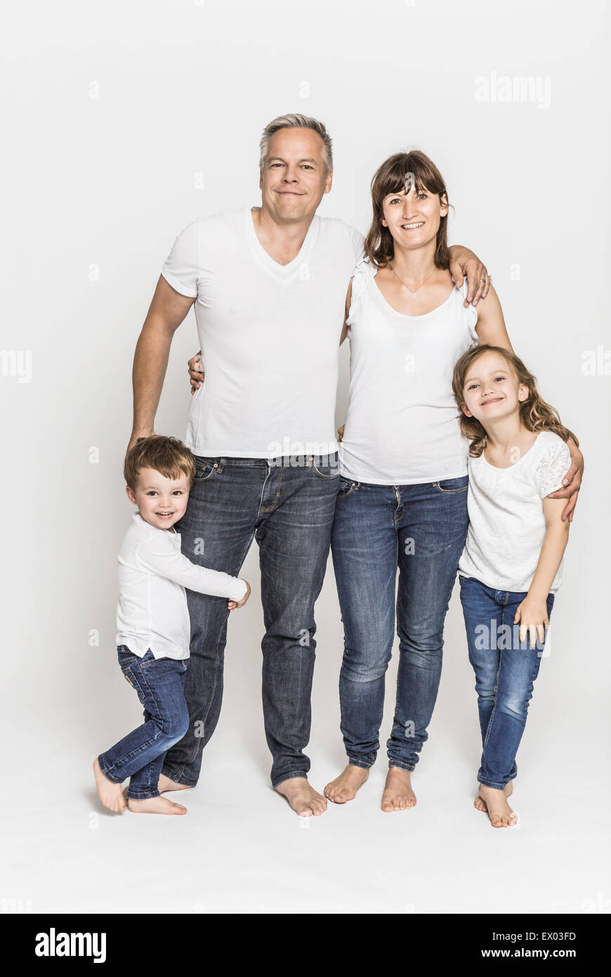 Two generation family - Stock Image