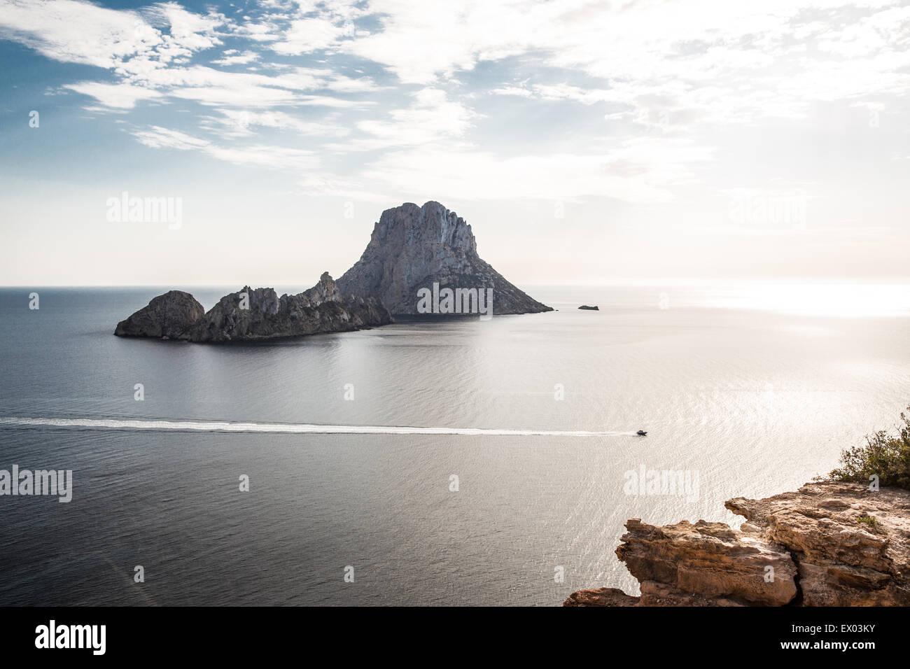 View of El Vedra island, Ibiza, Spain - Stock Image
