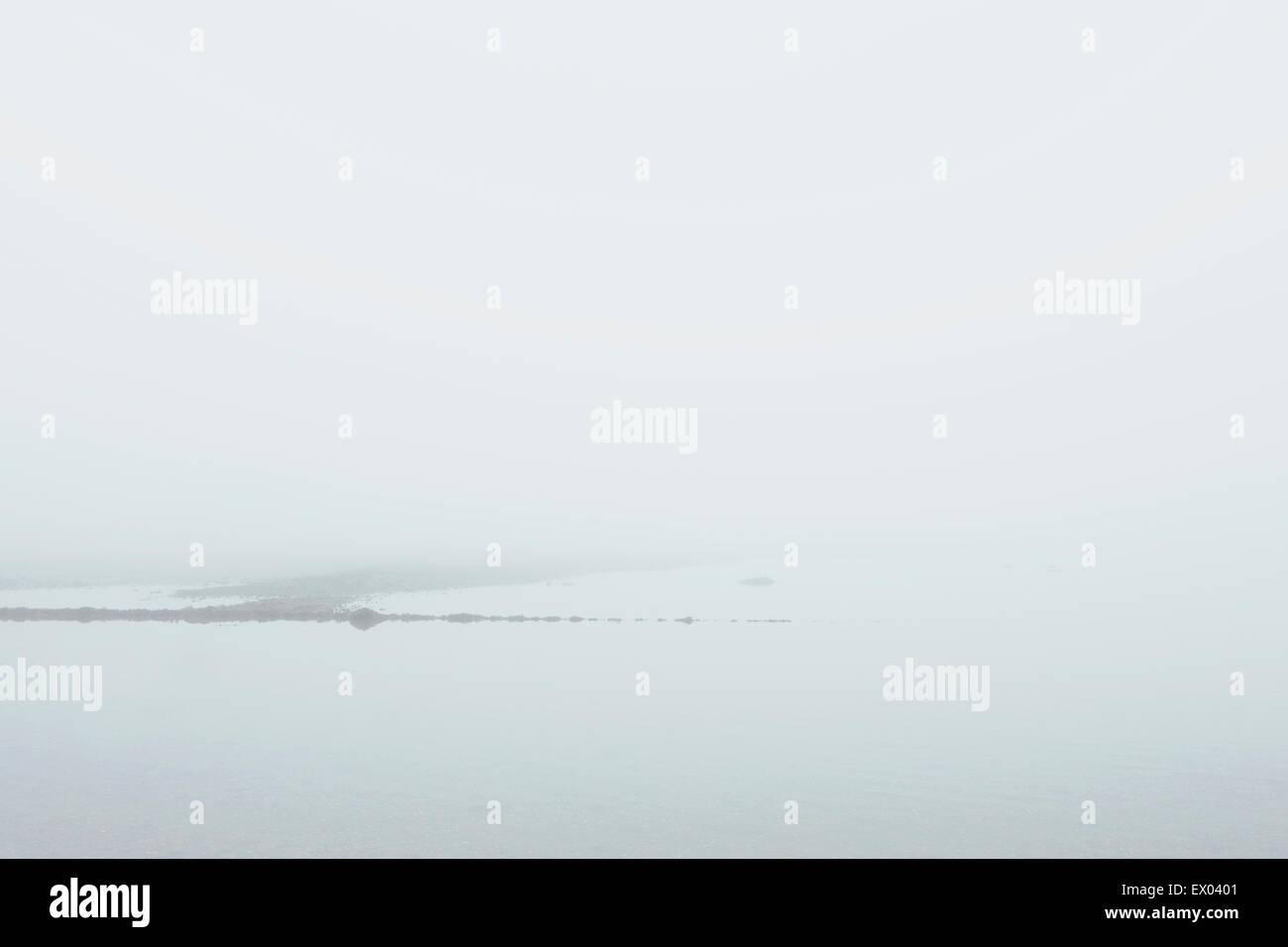 Misty view, West coast of Scotland - Stock Image