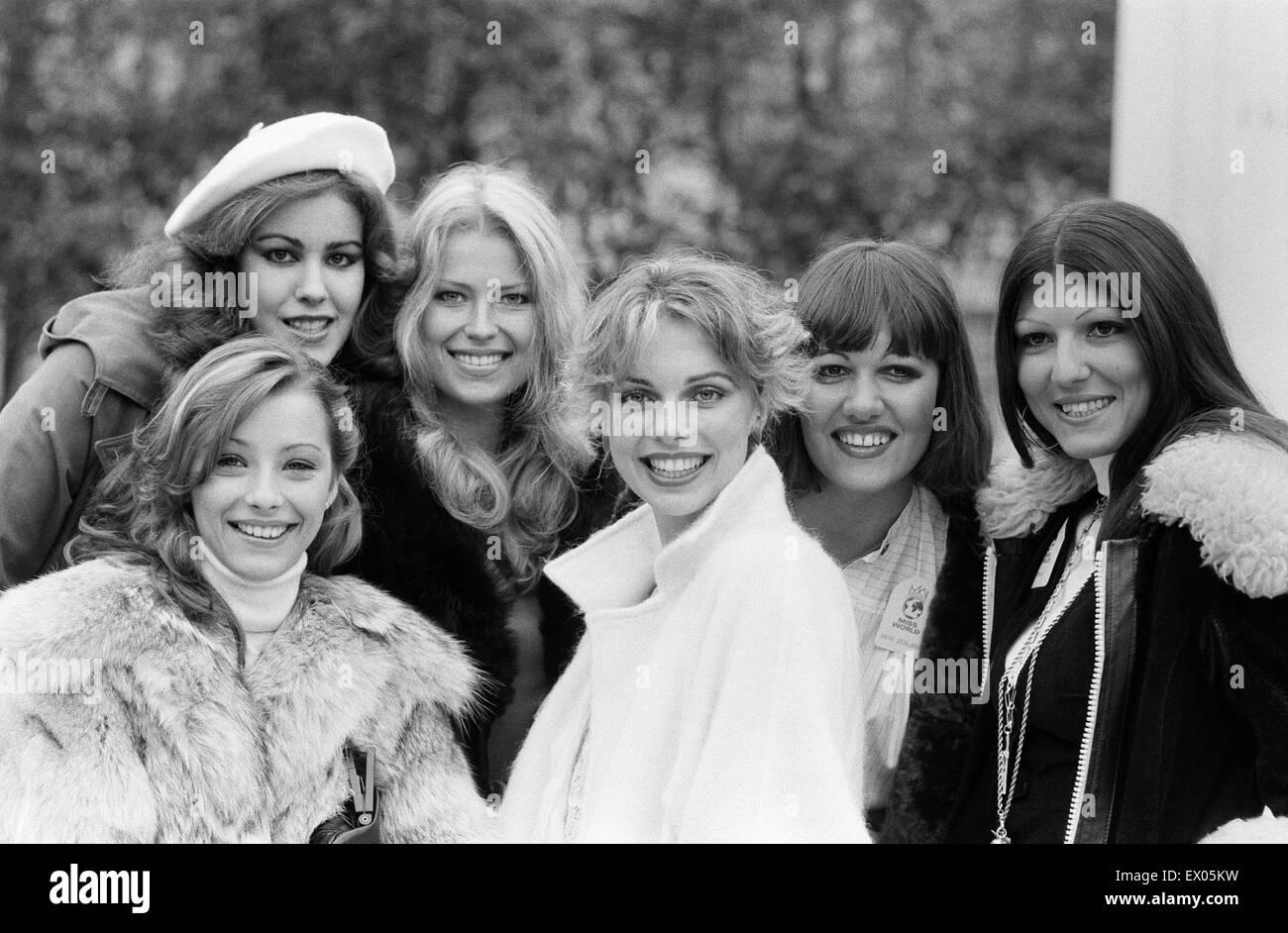 1977 Miss World Contestant, Photo-call at the Britannia Hotel ...