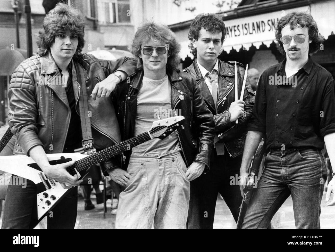 Members Of Ceffyl Pren The Cardiff Based Welsh Language Rock Group 13th July 1983