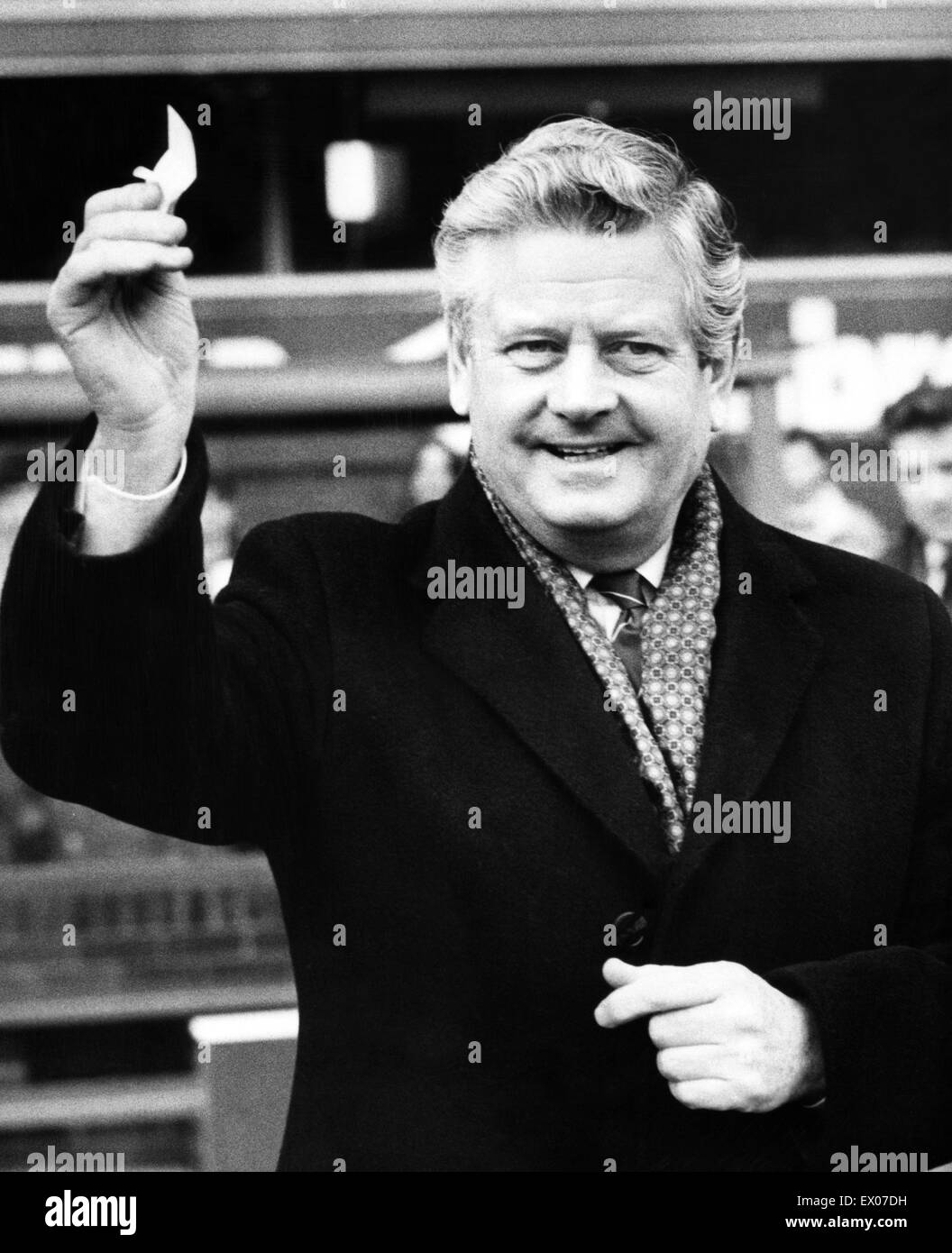 Phil Carter, Everton Chairman. 18th January 1987. - Stock Image