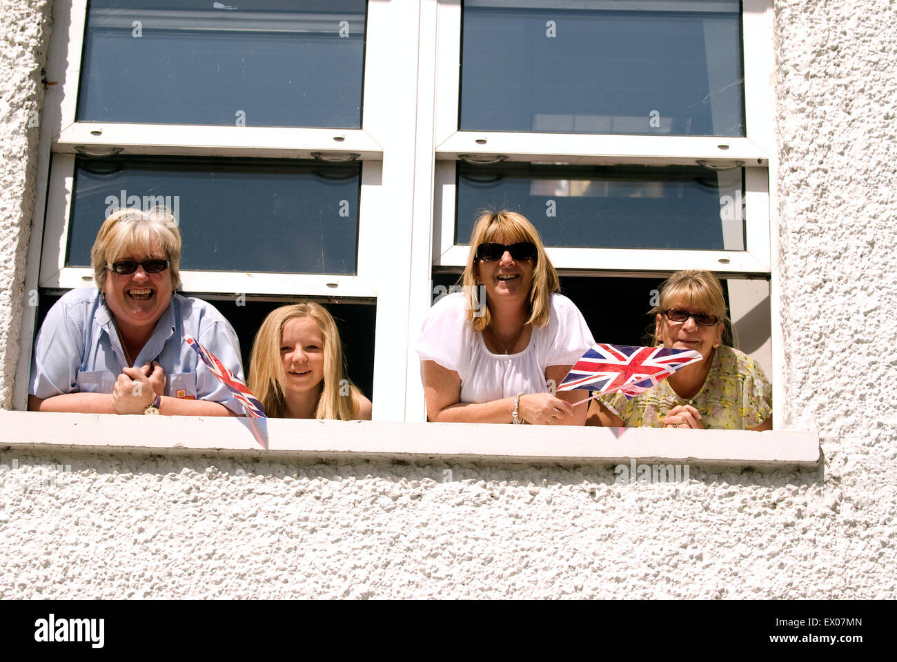 Onlookers enjoying the military procession during the Farewell to the Garrison Festival, Bordon, Hampshire, UK. - Stock Image