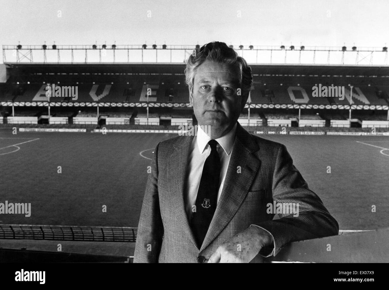 Phil Carter, Everton Chairman, pictured at Everton Football ground. 14th May 1985. - Stock Image