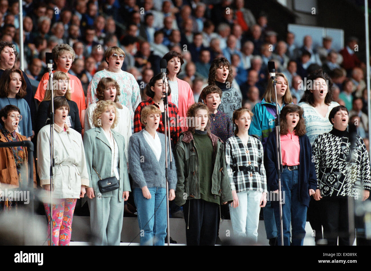 Cor World Choir concert at Cardiff Arms Park, 29th May 1993. - Stock Image