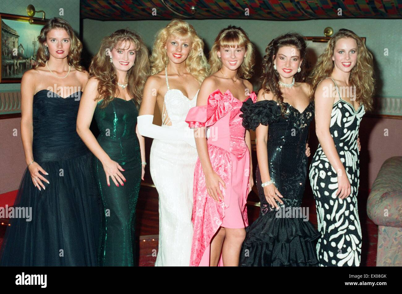 The Miss UK heats held at The Dome Nightclub in Birmingham. The winner goes through to represent Birmingham in the - Stock Image