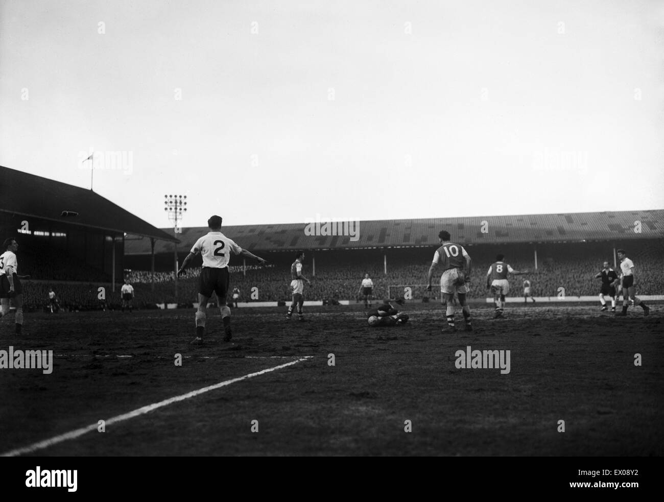 Tottenham 1-4 Arsenal, League Division One match at White Hart Lane, Saturday 31st January 1959. This is the dramatic Stock Photo