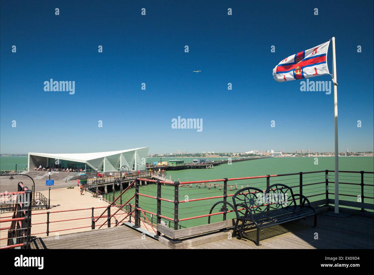 Southend Pier, Southend on Sea. - Stock Image