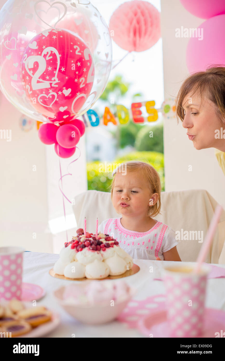 Garden party for the daughter 's birthday - Stock Image