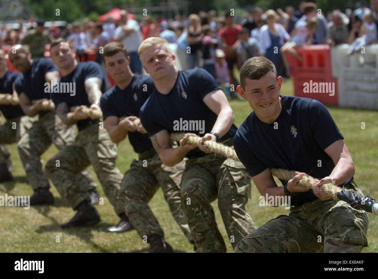 10 Trg Bn Inter Platoon Tug 'o' War, Farewell to the Garrison Festival, Bordon, Hampshire, UK. Saturday - Stock Image