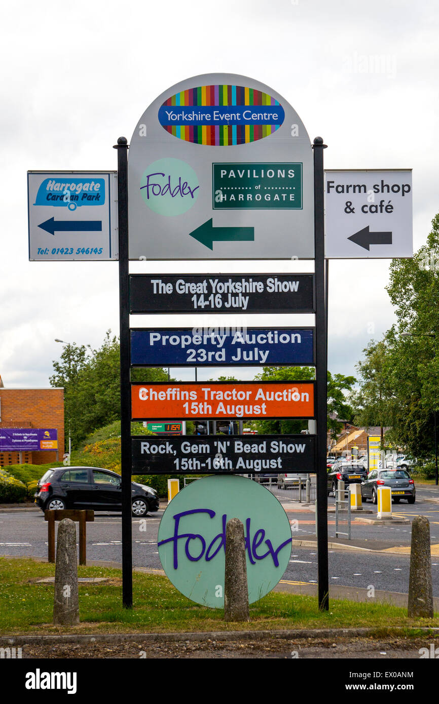 The Great Yorkshire Show - Showground Sign - Stock Image