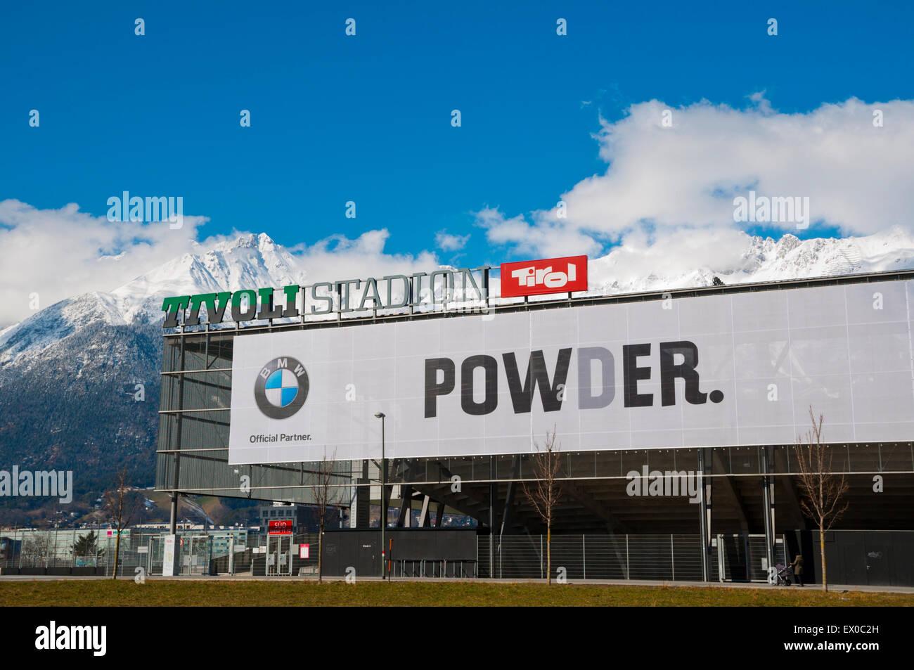 Tivoli Stadion, Amras, Innsbruck, Inn Valley, Tyrol, Austria - Stock Image