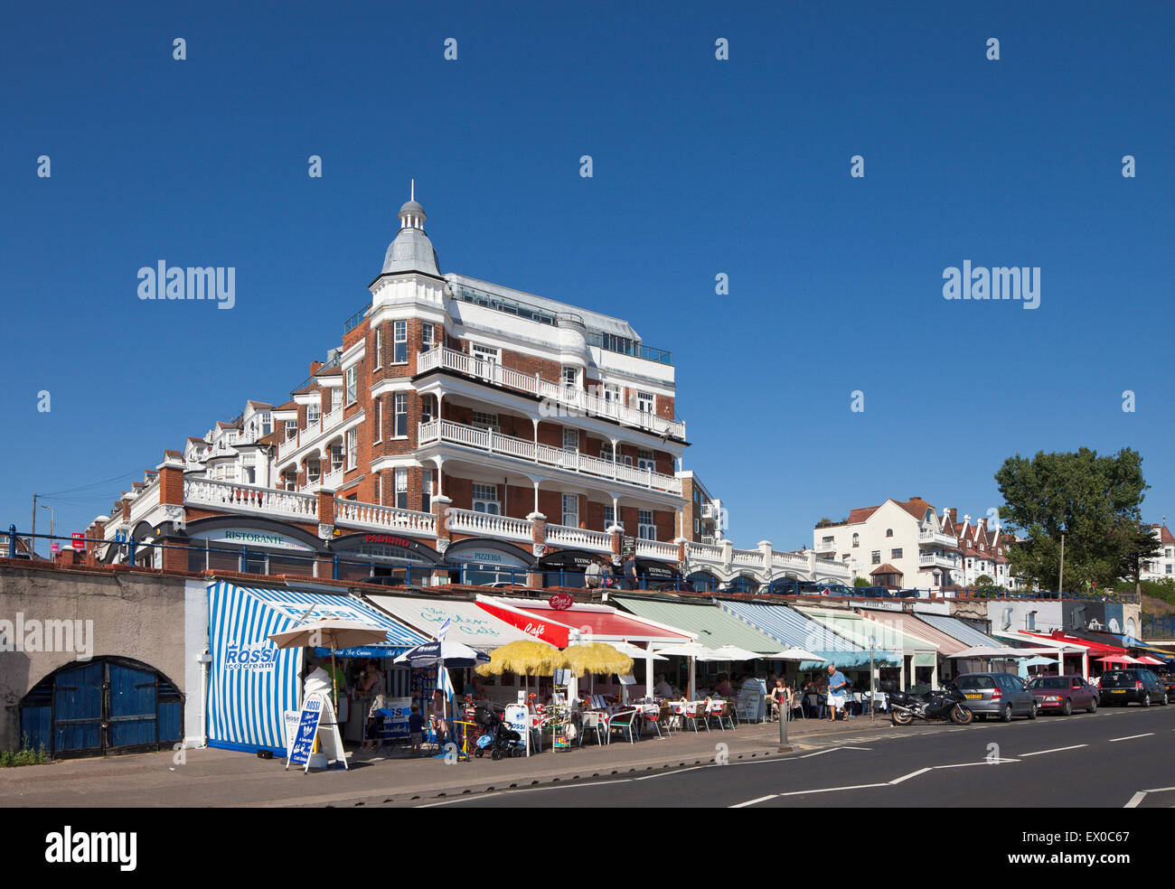 Western Esplanade Restaurants, Palmeira Parade, Westcliffe, Southend on Sea. Stock Photo