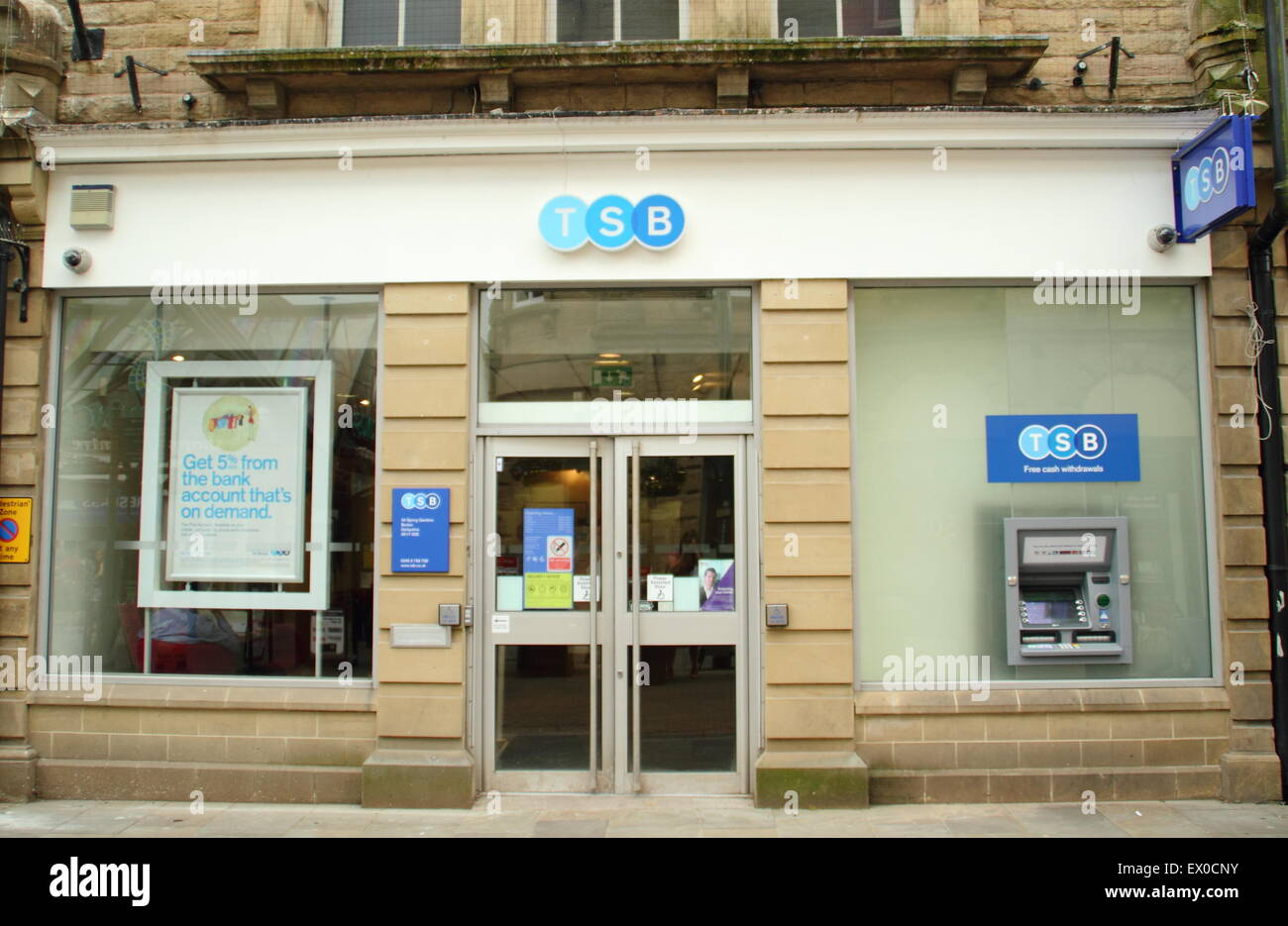 Entrance to TSB bank branch in Buxton Derbyshire England UK - Stock Image