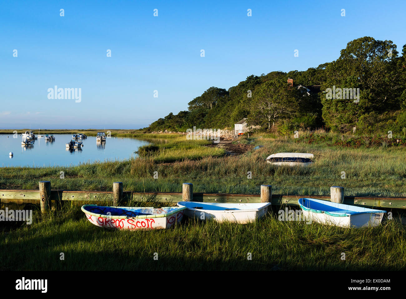 Picturesque Stetsons Cove, Chatham, Massachusetts, USA - Stock Image