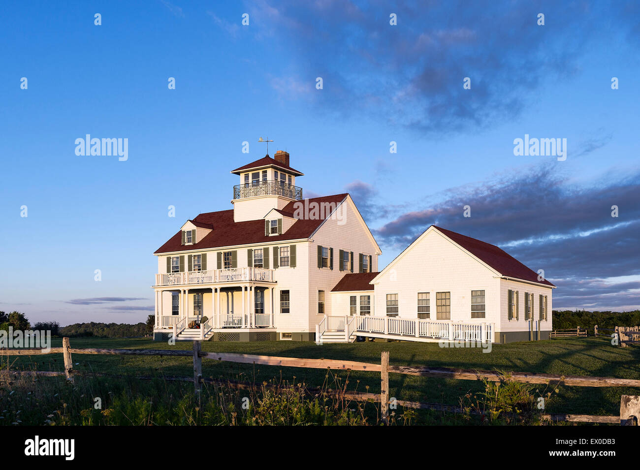Coast Guard Station, Eastham, Cape Cod, Massachusetts, USA - Stock Image