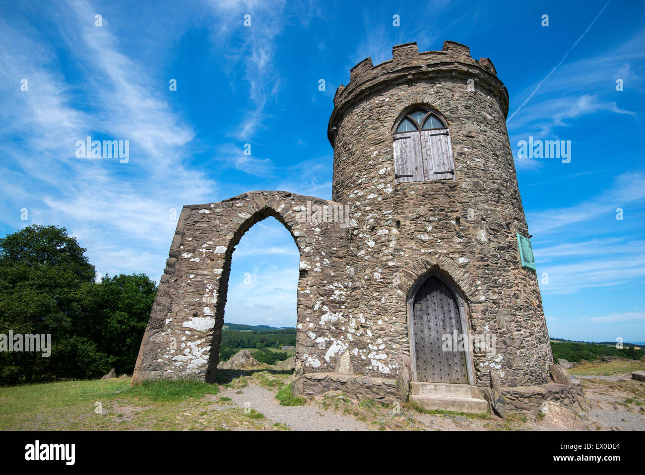 Old John Tower at Bradgate Park, Leicestershire England UK - Stock Image