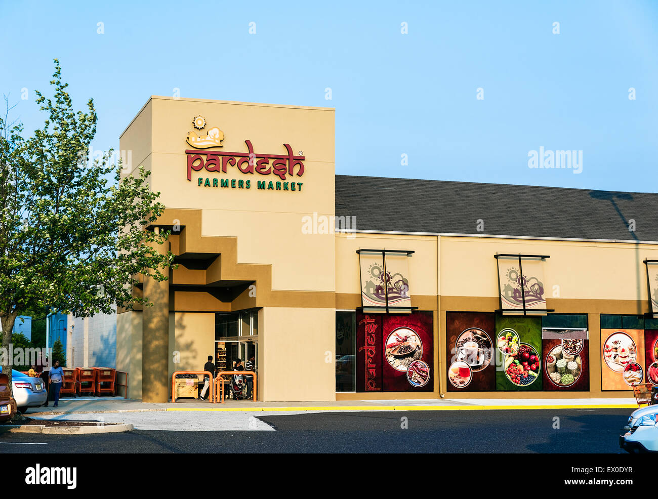 Pardesh Indian Farmers Market, Mount Laural, New Jersey, USA - Stock Image
