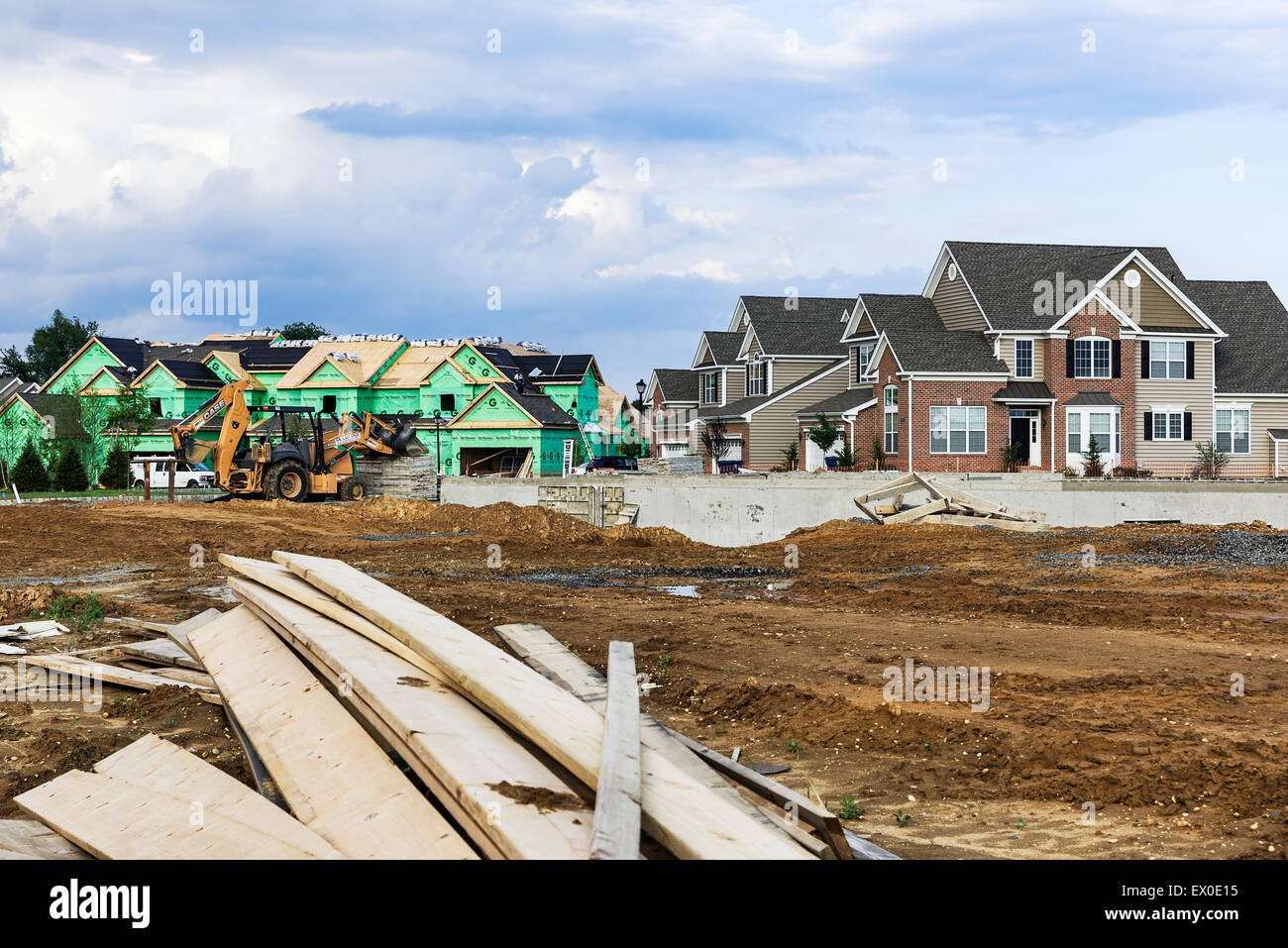 New home construction, New Jersey, USA. Stock Photo