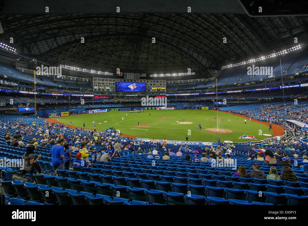 baseball game rogers centre interior - Stock Image