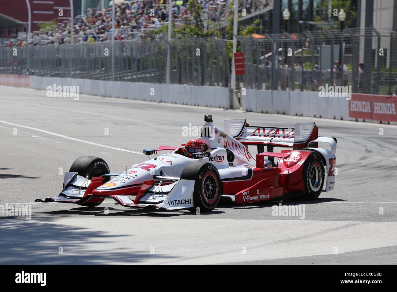 Toronto public event Hondy Indy car racing weekend - Stock Image