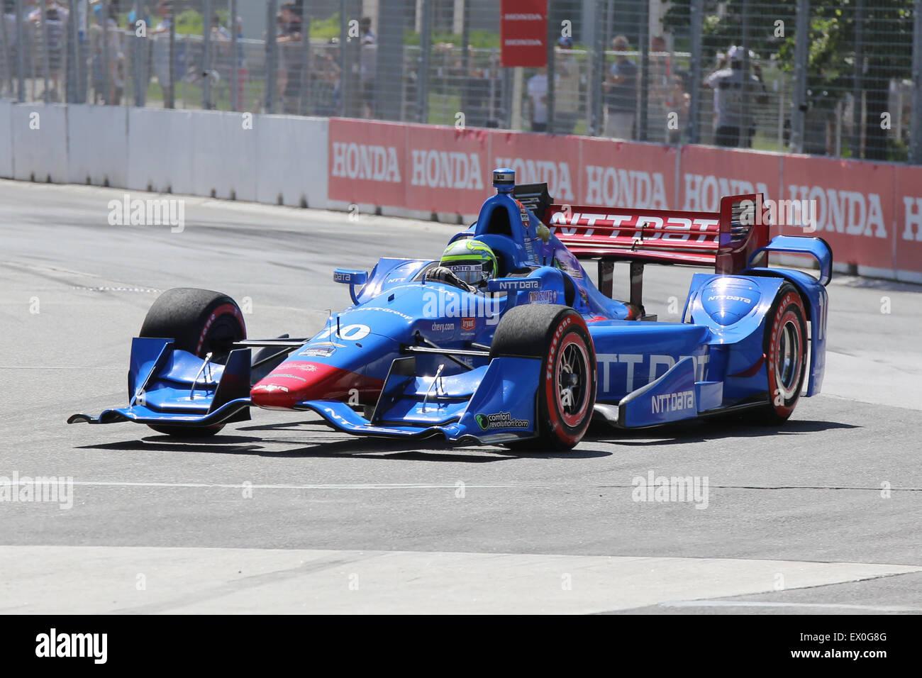 Honda Indy car race formula one Toronto Canada - Stock Image