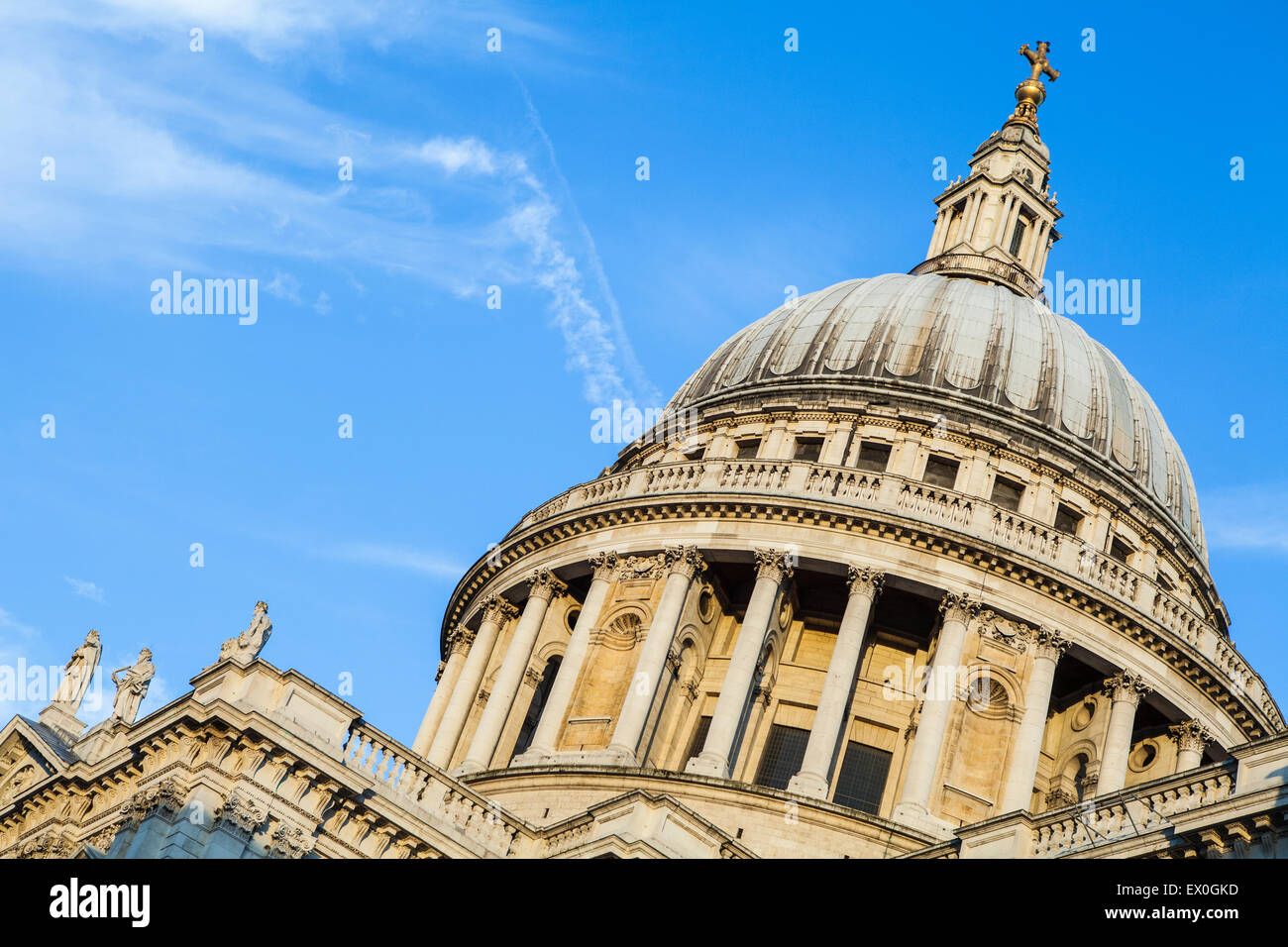 The dome of St. Pauls Cathedral in London. - Stock Image