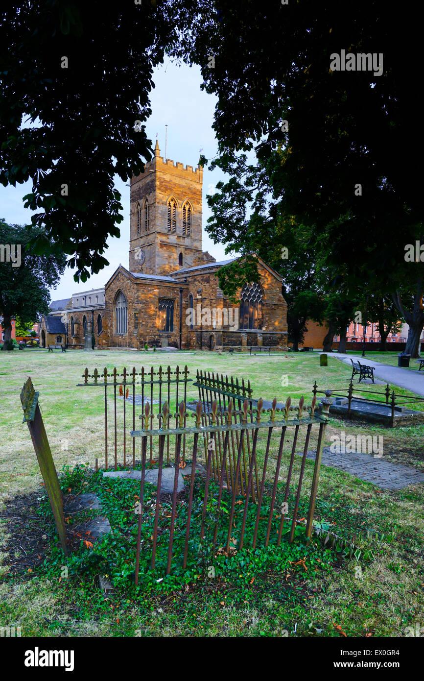 St  GILES CHURCH NORTHAMPTON - Stock Image