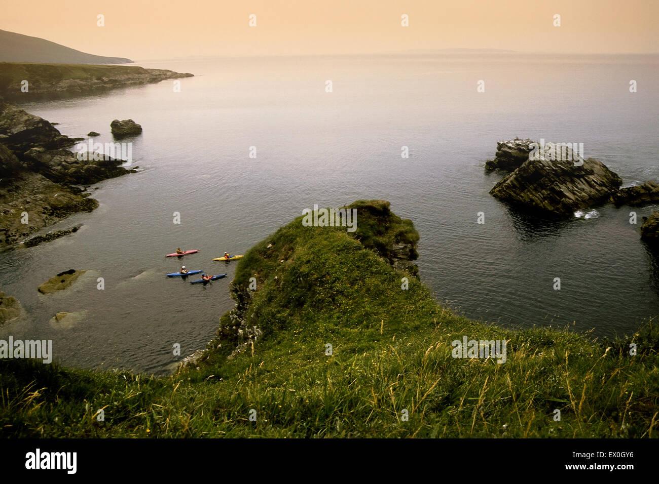 Achill island coast in Ireland - Stock Image