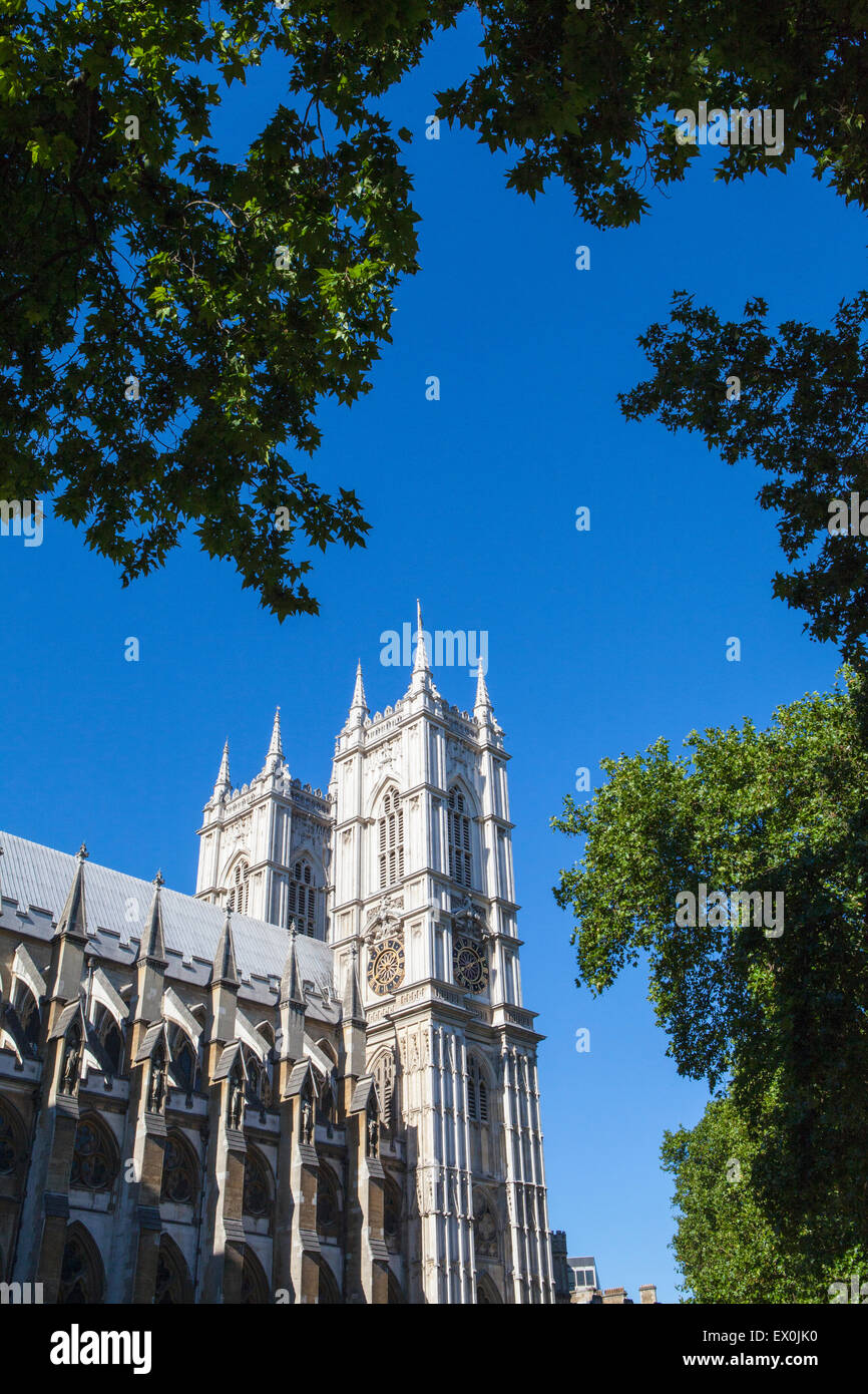 The beautiful Westminster Abbey in London. - Stock Image