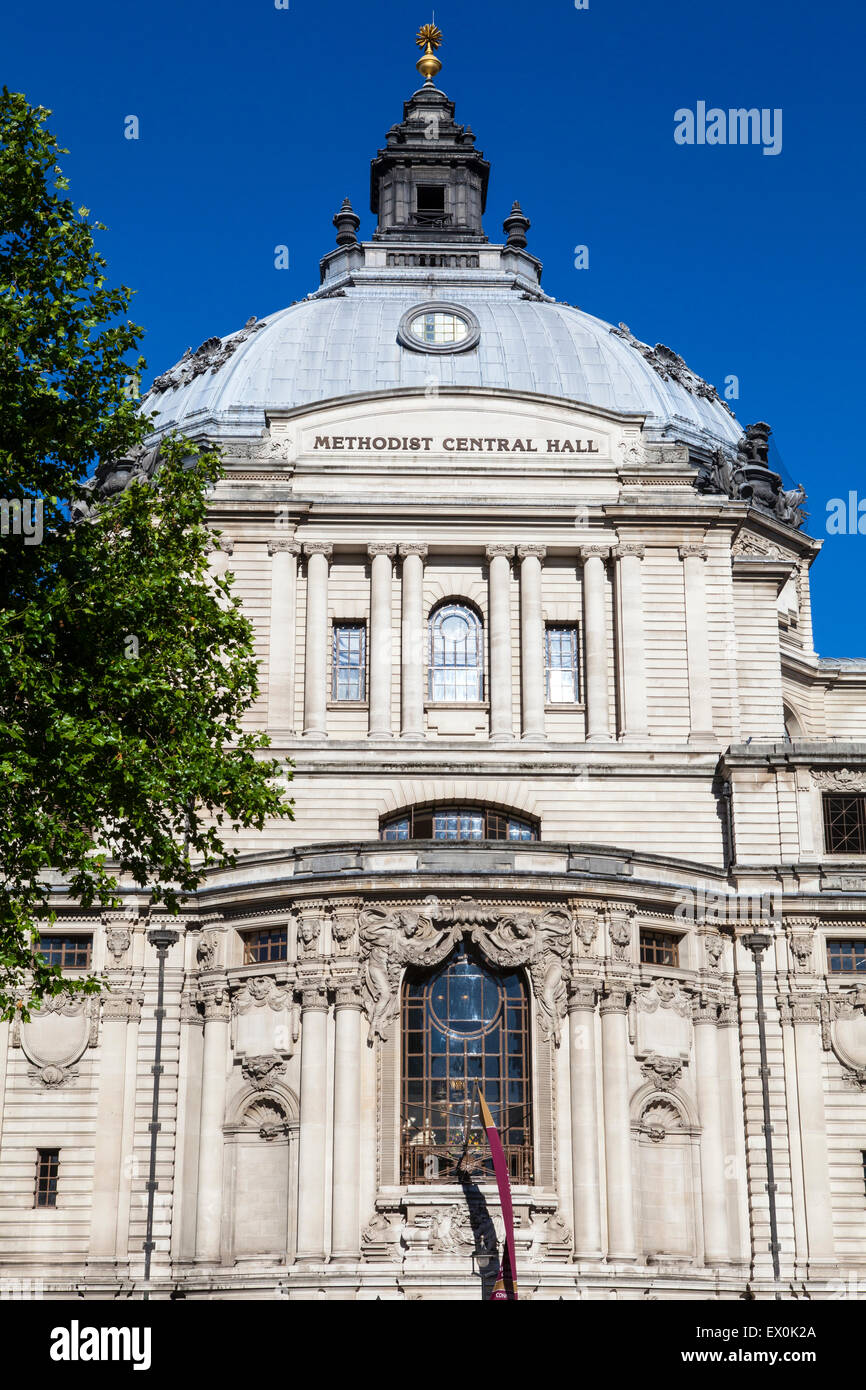 The Methodist Central Hall in the City of Westminster, London. - Stock Image