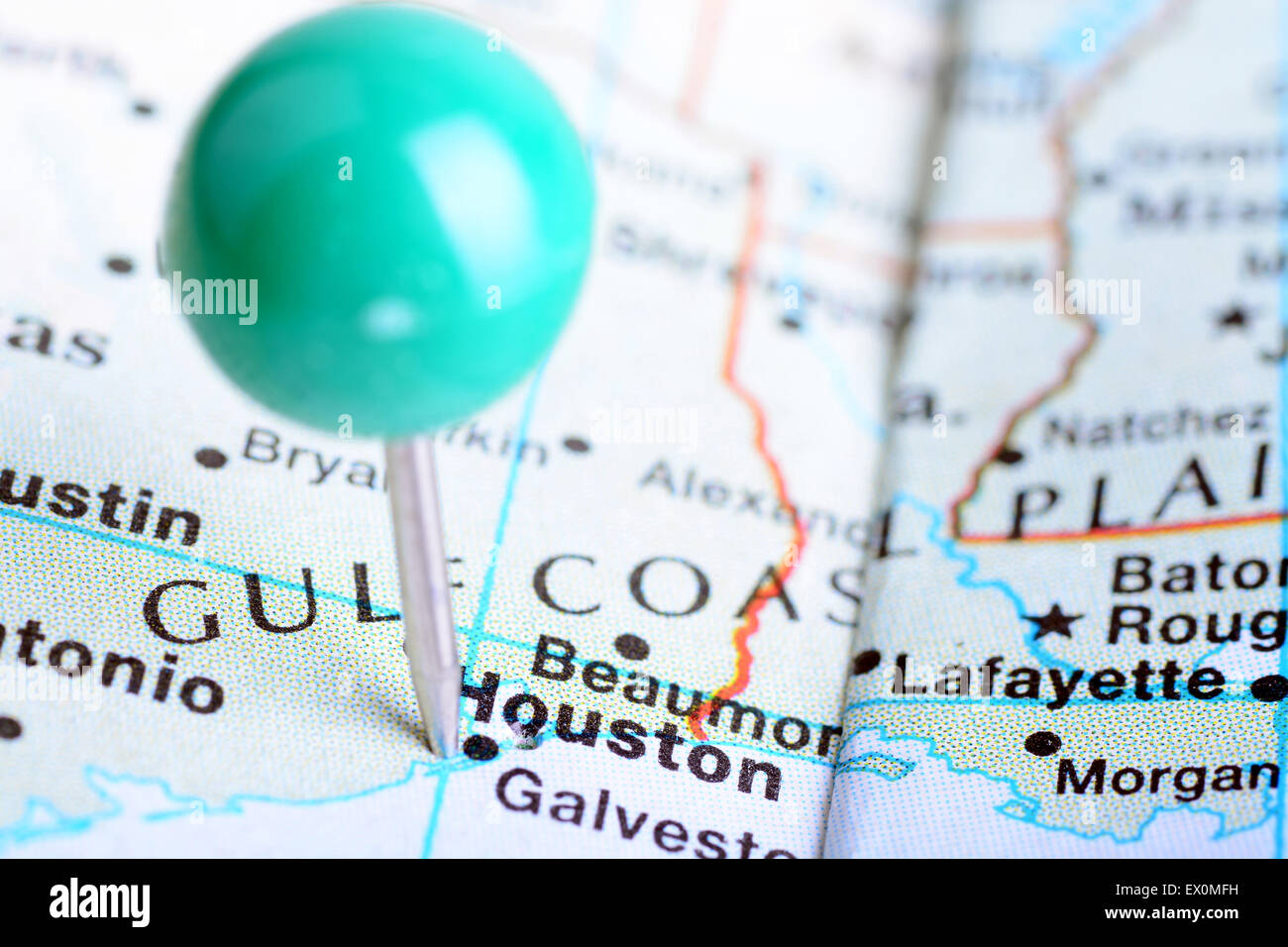 Texas Map With Cities Stock Photos & Texas Map With Cities ...