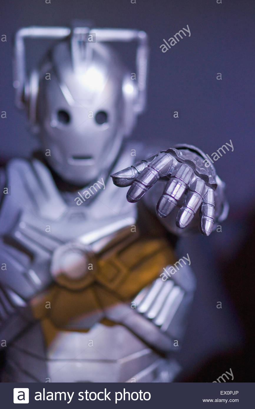 Cyberman from the Cult Television Series Doctor Who - Stock Image