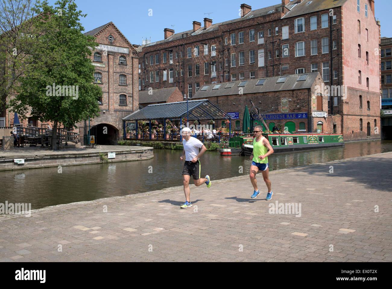 Nottingham Canal Side . - Stock Image