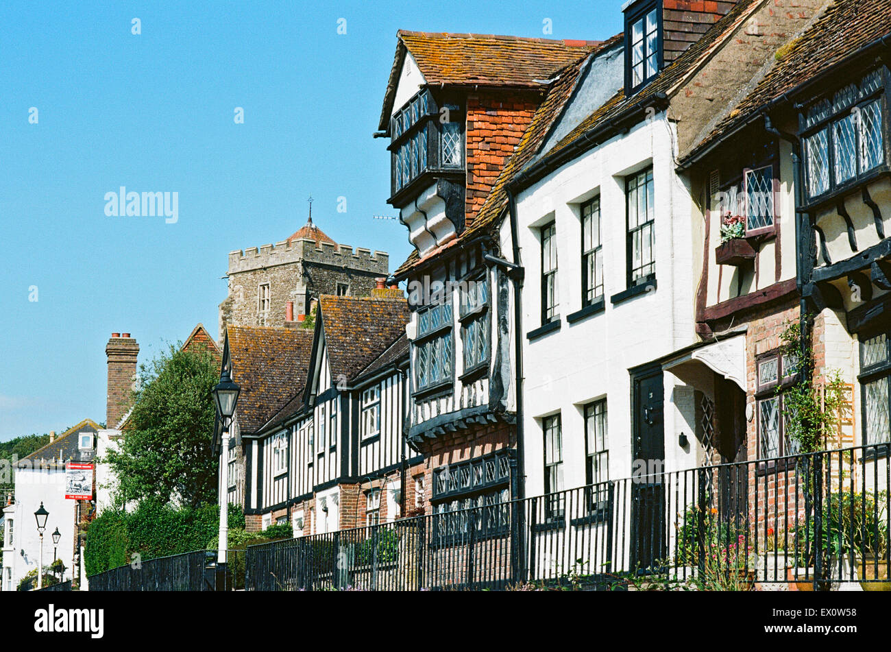 Hastings Old Town street, East Sussex, UK Stock Photo