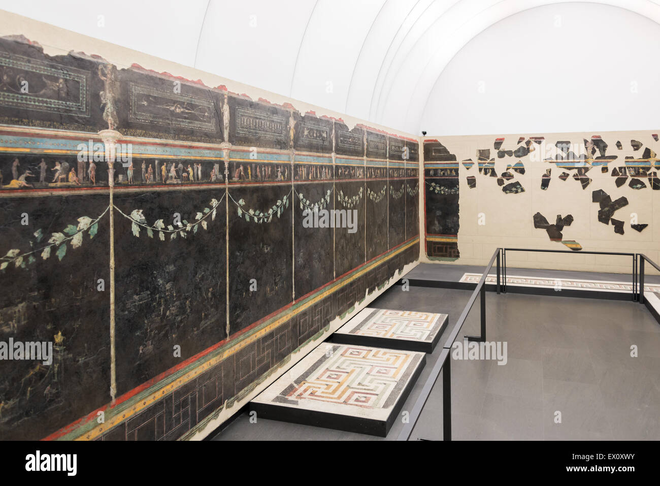 National Roman Museum - painted walls Stock Photo
