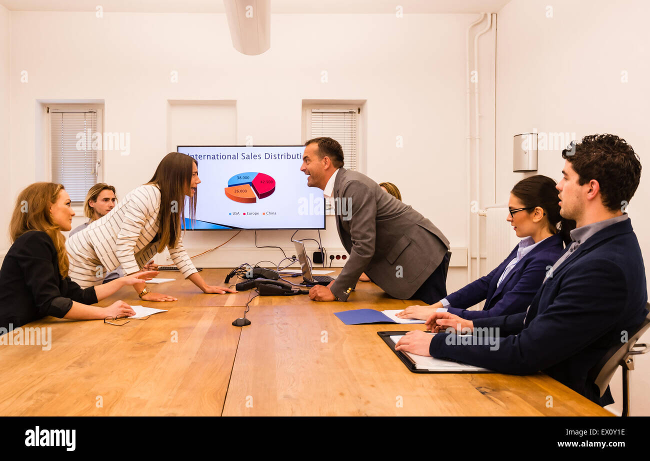 Conflict in the office - Stock Image
