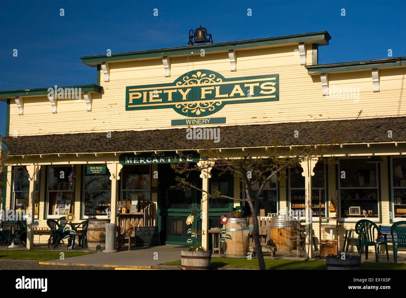 Piety Flats Winery, Yakima County, Washington Stock Photo