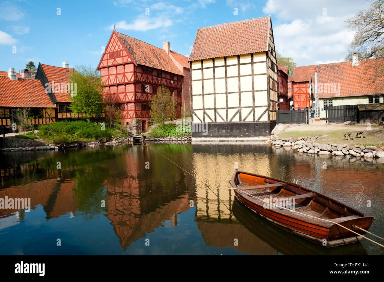 The Old Town - Aarhus - Denmark - Stock Image