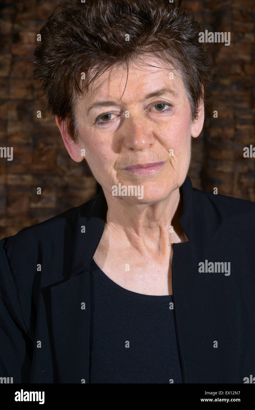 Ursula Von Rydingsvard with her work which is currently exhibited at Yorkshire Sculpture Park. Picture: Scott Bairstow/Alamy - Stock Image