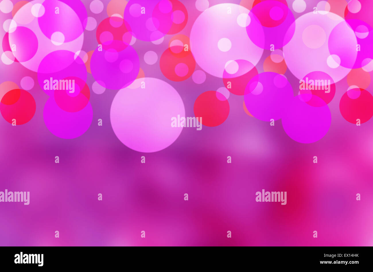 Beautiful bubbles effect illustration  showing a vibrant purple background - Stock Image