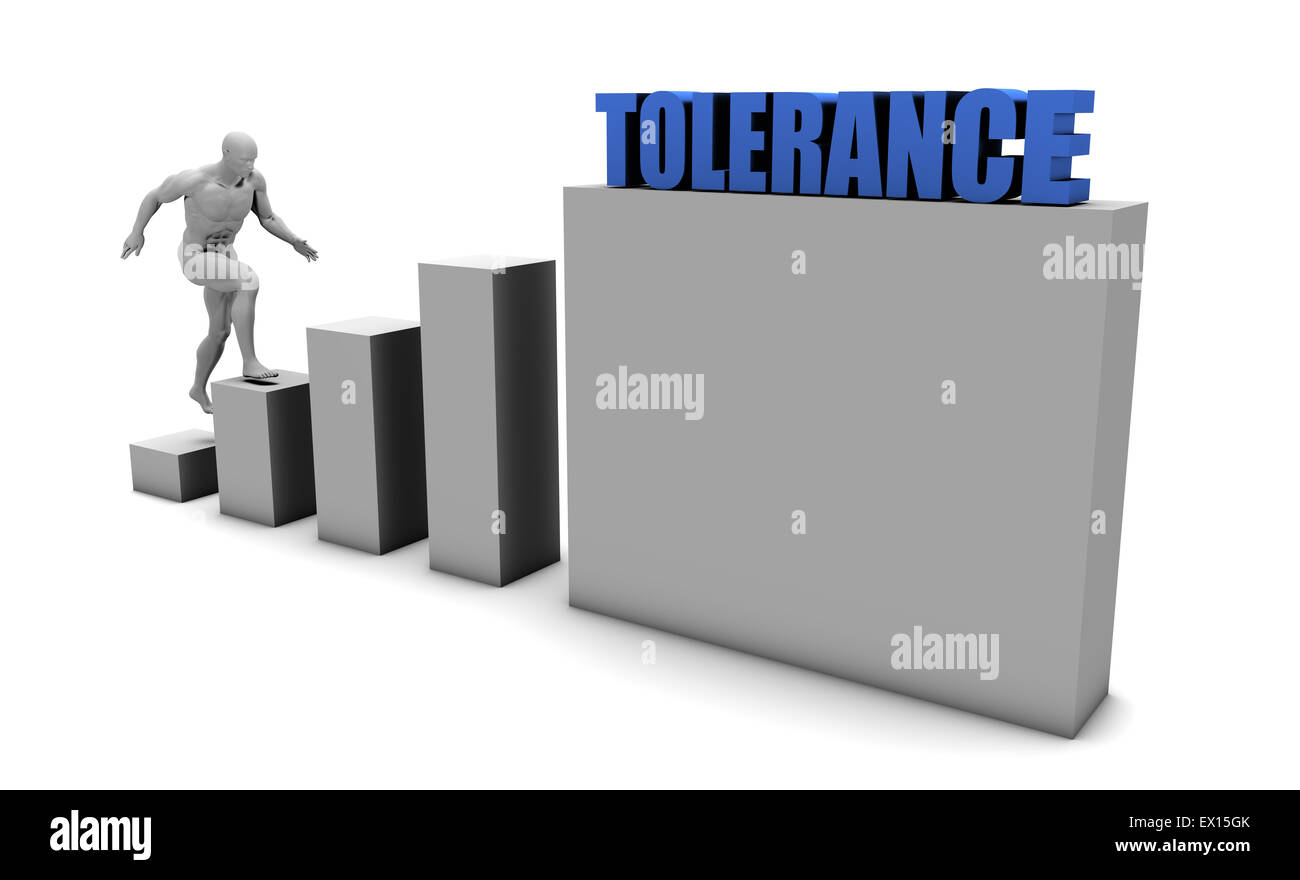 Improve Your Tolerance and Increase or Reach Your Goal - Stock Image