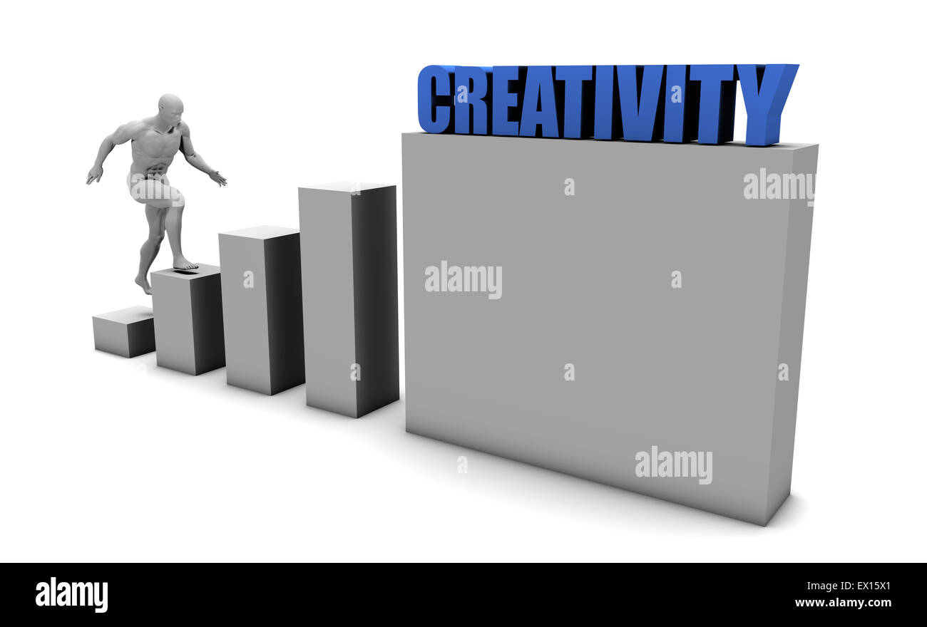 Improve Your Creativity and Increase or Reach Your Goal - Stock Image