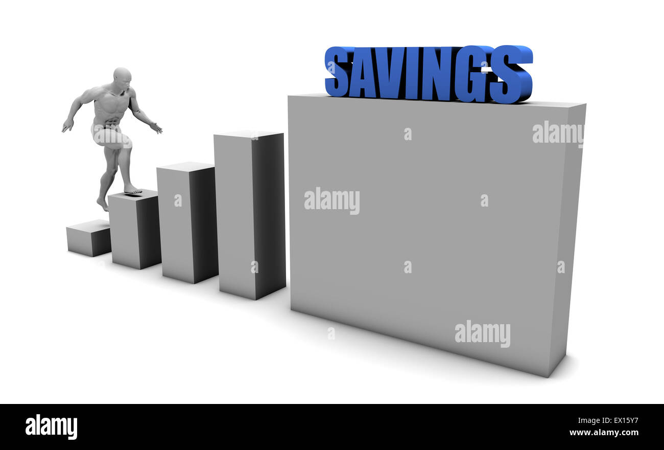 Improve Your Savings and Increase or Reach Your Goal - Stock Image