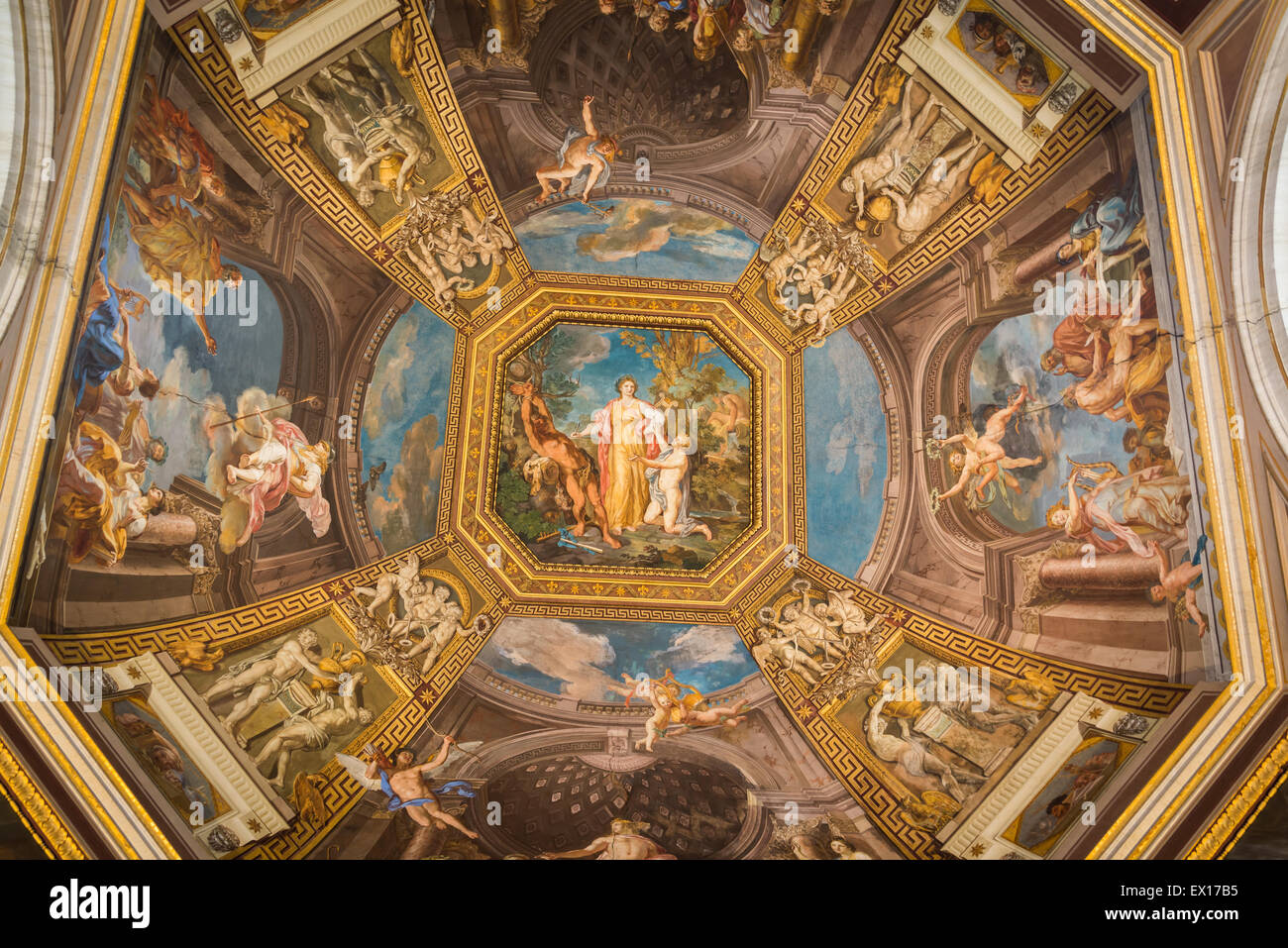 Apollo and the Muses - Vatican Museums Stock Photo